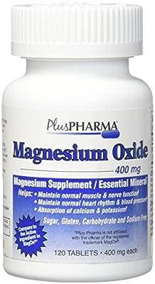 PlusPharma Magnesium Oxide 400mg, 120 Tablets Essential Mineral