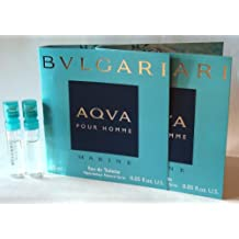 Bvlgari AQVA Marine Pour Homme by Bvlgari (2x) Eau de Toilette 1.5ml - 0.05 oz. Sampler Vial Spray. Partially filled by the manufacturer (See Picture). New in Cards.