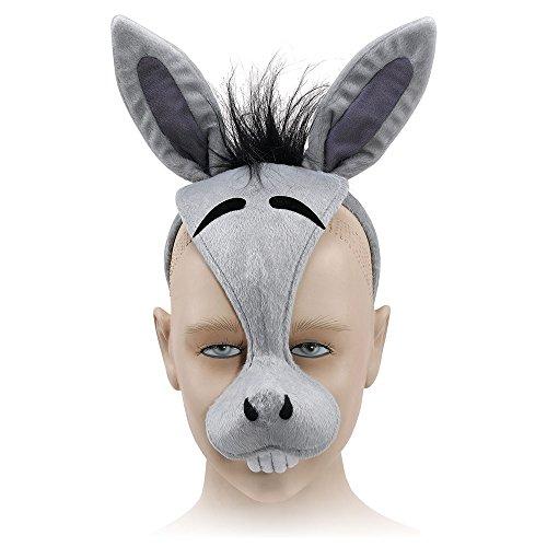(Bristol Novelty EM179 Donkey Mask and Sound on Headband, Multi-Colour, One)