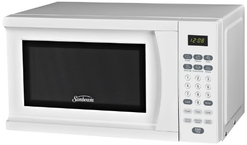 Sunbeam SGS90701W 0.7-Cubic Feet Microwave Oven, White by BUNN