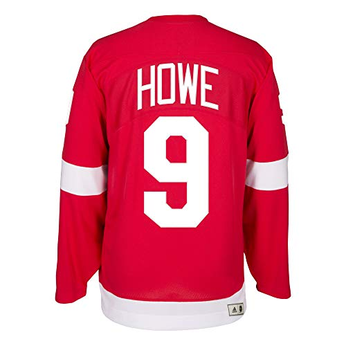 9b0a6a9ada9 adidas Gordie Howe Detroit Red Wings Authentic Heroes of Hockey Throwback  Jersey (54/XL)