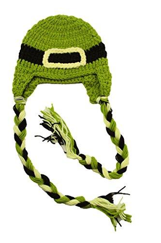 Lucky Leprechaun Crochet Hat with Pigtail Braids-Unisex-Medium