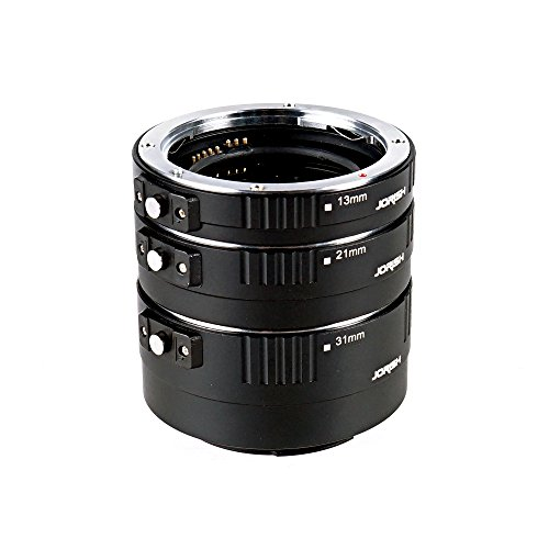 Jorish Pro Auto Macro Extension Tube Kit for Canon EOS EF / EF-s Lenses for Extreme Close-up by JORISH
