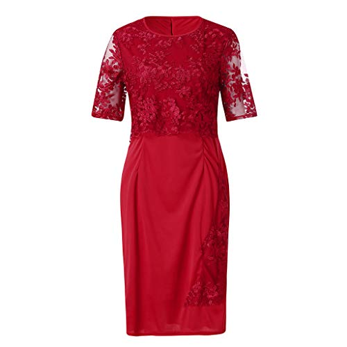 LOMONER Sexy Dress Dresses for Women Work Casual Fashion Lace Elegant Mother of Bride Knee Length Plus Size from LOMONER