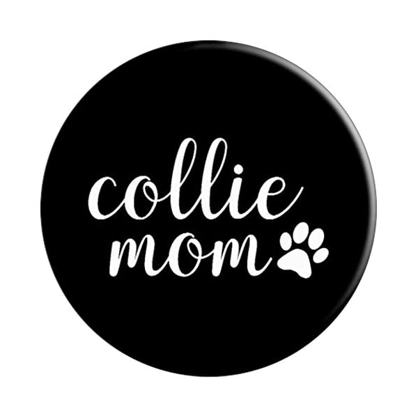 Collie Mom - Dog Paw Print Design PopSockets Grip and Stand for Phones and Tablets 3