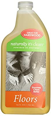 Naturally It's Clean Floors Cleaner, 24 Ounce, All Natural Plant-Based Floor Cleaner Concentrate is Child and Pet Safe, Organic Enzyme Formula makes 24 Gallons