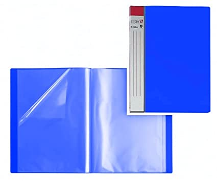 6x HETZEL SHOW IT SICHTBUCH blau mit 20 DIN A4 PROSPEKTHÜLLEN SICHTMAPPE NEU