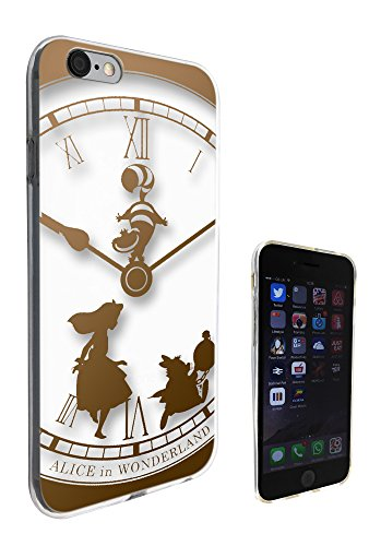 459 - Vintage Clock Alice in Wonderland Design iphone 4 4S Fashion Trend Protecteur Coque Gel Rubber Silicone protection Case Coque