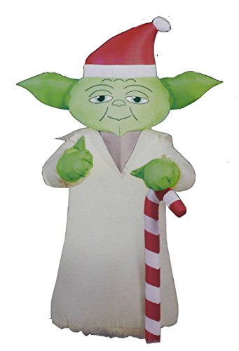 Star Wars 3.5 Feet Yoda Christmas Holiday Airblown Inflatable with LED Lights