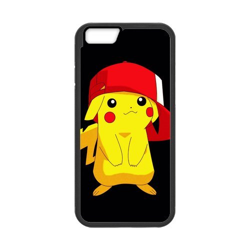 Coque IPhone 6S,Coque Silicone Souple Protection pour iPhone6 6S(4.7 inch),Pokemon Pikachu Case Apple IPhone 6/6S Case Cover Etui en silicone coque de protection