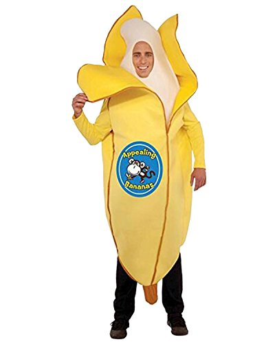Chiquita Banana Woman Halloween Costume (Aifang Halloween Christmas Men's Appealing Banana Costume Suit Lightweight Fruit Banana Cosplay for Adult)