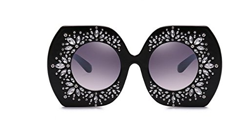 Image de Cendres de Les Lunettes Intellectuality rétro Grande Lunettes Diamants de gradient personnalisé Mode Soleil Lunettes tq6pU1w