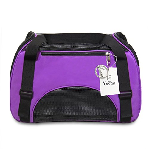 YOOME Airline Approved Soft Sided Pet Carrier Travel Tote Bag Portable Handbag Shoulder Bag for Pets,Premium Zippers & Metal Safety Clasp,Under Seat Compatibility