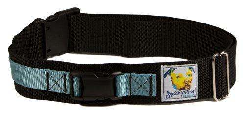 Squishy Face Studio Hands Free Dog Leash Belt, Medium/Large, Ocean Blue by Squishy Face Studio