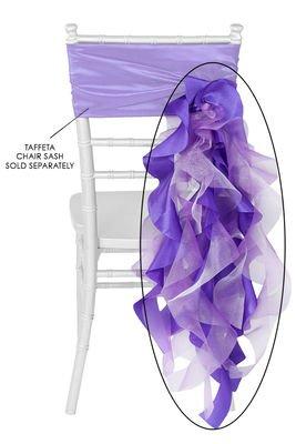 10 Pk, Curly Willow Chair Sash Material: Taffeta & Organza Approx. 29