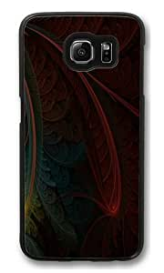 Abstract Feather Custom Samsung Galaxy S6/Samsung S6 Case Cover Polycarbonate Black by kobestar