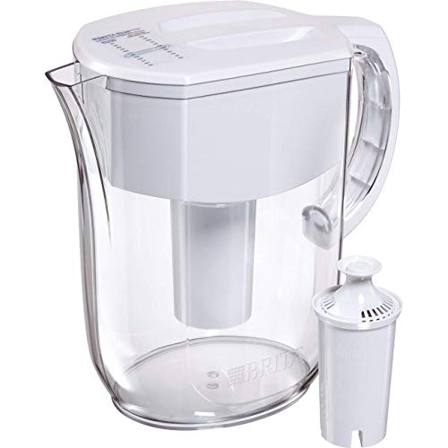 Brita Large 10 Cup Everyday Water Pitcher with Filter - BPA Free - White (Renewed)