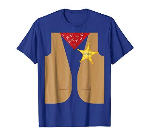 Easy Halloween Ideas (Western Sheriff Costume Tshirt - Easy Halloween Costume)