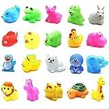 Polymer 13pcs Animal Bath Toys Baby Kids Mini Animal Floating Bathtub Toy Floating Soft Bath Toys