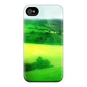 Cute Tpu Phone Case Green Scenery Case Cover For Iphone 4/4s by runtopwell