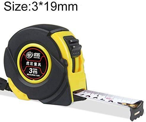 WZY Hujiang 12 PCS耐摩耗性カバーリトラクタブルルーラー測定テープポータブルプルルーラーミニ巻尺、長さ:3m幅:19mm