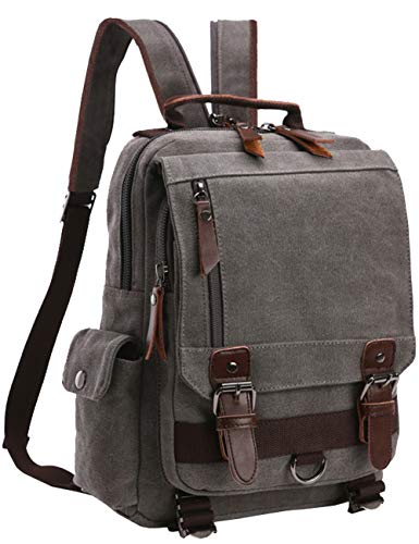 Messenger Bag for Men, Canvas Crossbody Sling Shoulder Bags for Women Haversack