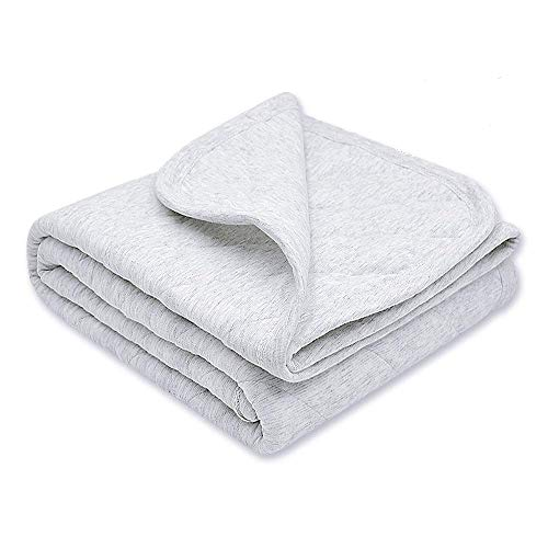 Amazon Com Zenssia Organic Cotton Baby Blanket Warm Breathable And Super Soft Quilted Toddler Blanket For Boys And Girls Hypoallergenic Thermal Crib Blanket Thick And Light Weight 39 X47 Large Gray Home