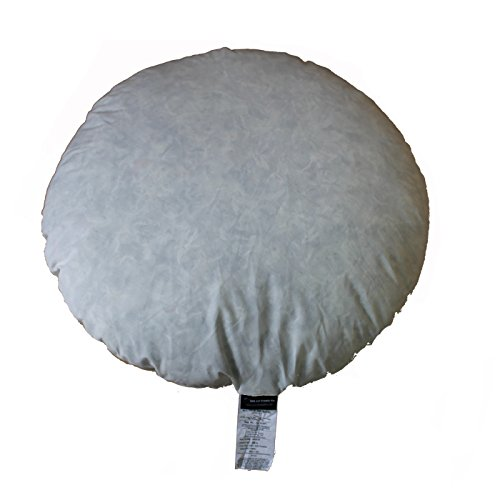 IZO Home Goods 95% Feather 5% Down, 32 Inch Diameter Round Decorative Floor Pillow Insert Throw Pillows Sham Stuffer by IZO Home Goods