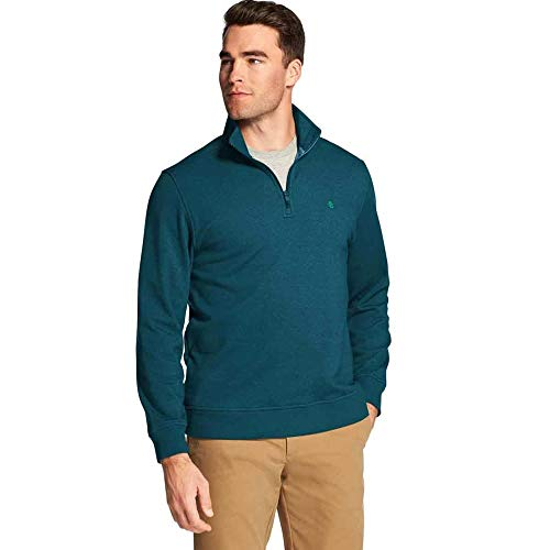 IZOD Mens Advantage Performance Quarter Zip Fleece Pullover