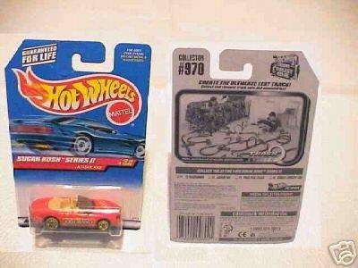 Mattel Hot Wheels 1998 Sugar Rush Series II 1:64 Scale Die Cast Metal Car # 2 of 4 - Red Nestle 100 Grand Convertible Coupe Jaguar XK8