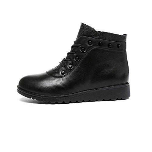 y caminar cálidas invierno Calzado transpirables 42 L de Botas KK negras casual para cómodas Yfq8wxZv1C