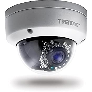 TRENDnet Indoor/Outdoor Dome Style, PoE IP Camera with 3 Megapixel Full 1080p, IP66 Rated Housing, Night Vision up to 82ft., ONVIF, IPv6, TV-IP311PI