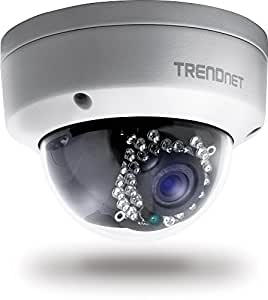 TRENDnet Indoor/Outdoor Dome Style, PoE IP Camera with 3 Megapixel Full 1080p HD Resolution, IP66 Weather Rated Housing, Digital WDR, (82 ft. Night Vision), ideal for monitoring your home/business remotely, Secu, Free TRENDnet App for Android, and IOS, ONVIF, IPv6 Compliant, TV-IP311PI.