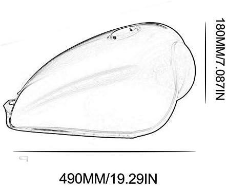 R/éservoir de gaz Cafe Racer haute performance R/éservoir universel en fer FOBEL BOBBER pour Suzuki GN125 GN250 GN Facile /à installer-Noir brillant