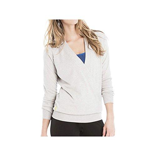 Lole Women's Sasmita Top Warm Grey Heather T-Shirt LG