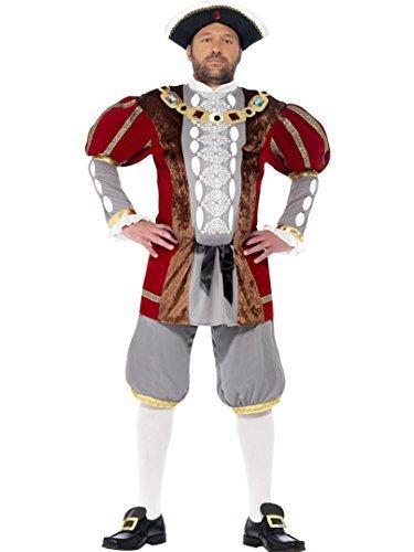 Envío 100% gratuito Men's Henry VIII Fancy Dress Costume Plus Plus Plus FREE Hat Talla Large by Smiffy's  seguro de calidad