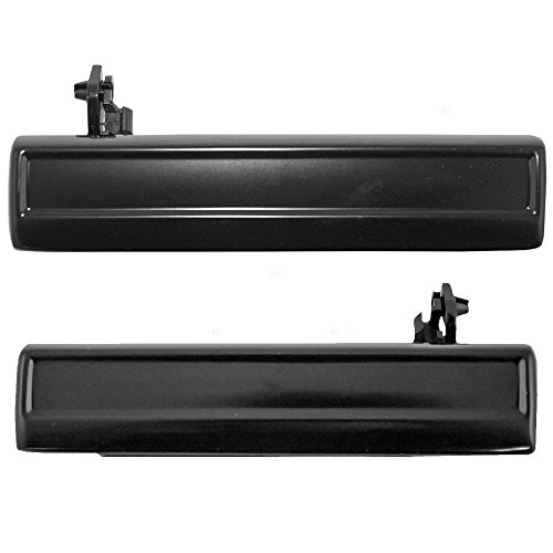 Pair Set Outside Front Rear Door Handles Replacement for Chevrolet Pontiac Oldsmobile 20310083 (Cavalier Outside Door Handle)