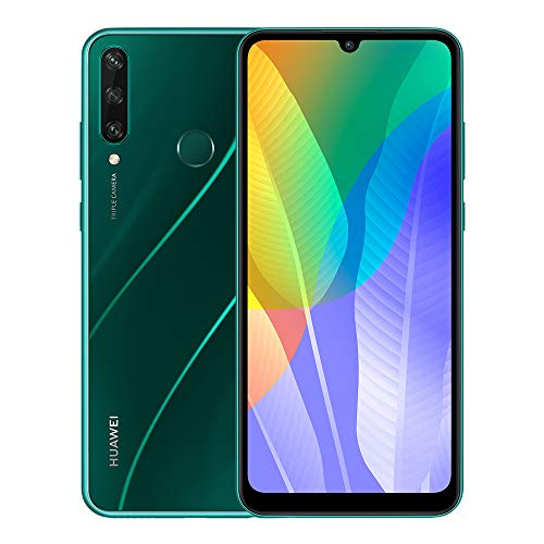 "Huawei Y6p Smartphone with 6.3"" Dewdrop Display(3 GB RAM+64 GB ROM, Octa-core Processor, 13MP Triple Camera, ultra wide angle lens, 5000 mAh Large Battery), Green"