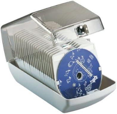 Esselte 90954 CD-Box für 40 CDs mit Schloss, hellgrau