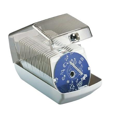 Esselte Archivador estándar para CDs con cerradura, Capacidad para 40 CDs, 14,5