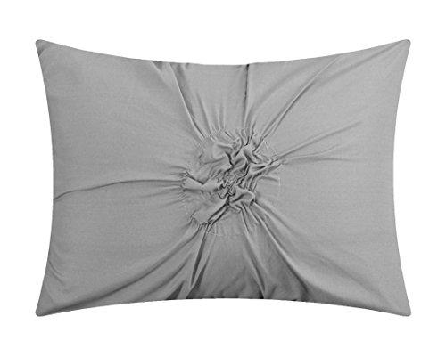 Chic Home CS2754-AN Ashville 16 Comforter Set, Silver, King