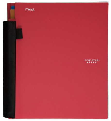 Five Star Advance Spiral Notebook, 3-Subject, 150 College-Ruled Sheets, 11 x 8.5 Inch Sheet Size, Red (72803)