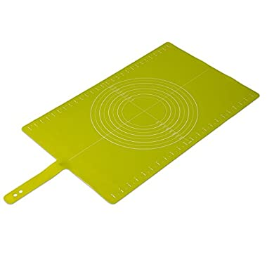 Joseph Joseph Silicone Non-Slip Pastry Mat with Measurements, Roll-Up, Green