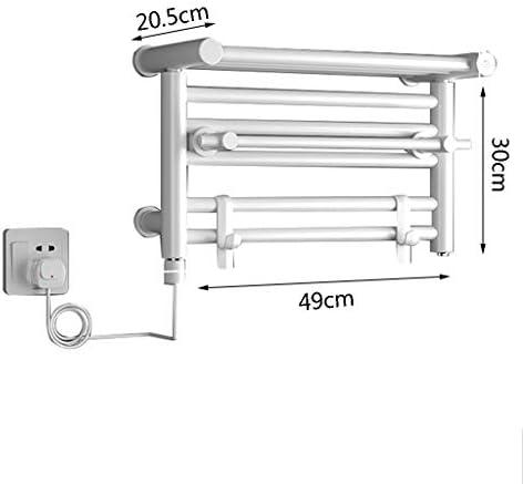 WHJ@ 電気ストレートバスルーム加熱タオルレールラジエーター、双方向温度制御、パンチ取り付け