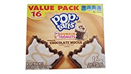 Pop-Tarts Dunkin Donuts Frosted Chocolate Mocha Toaster Pastries, 28.2 Ounces