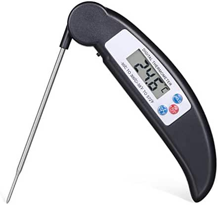 Ihomy Digital Cooking Thermometer Instant Read Meat Thermometer with Long Sensitive Probe for BBQ, Grill, Smoker, Food, Oil, Oven, Milk and Water