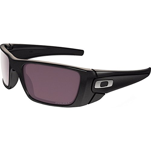 Oakley Fuel Cell Polarized Iridium Rectangular Sunglasses, Granite w/Prizm Daily Polarized, 60 - Fuel Black Cell Oakley