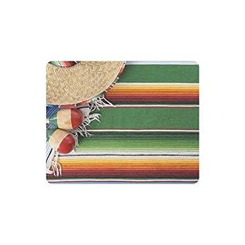 Obra de arte mexicana con Sombrero en rayas horizontales ...