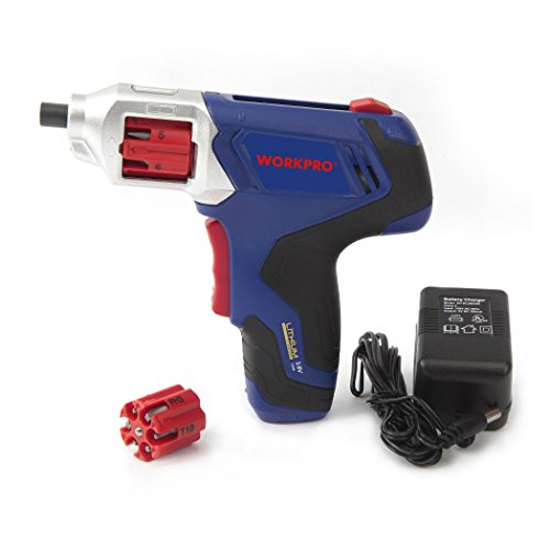 WORKPRO Cordless Rechargeable Power Screwdriver Lithium-ion 3.6V with Quick Change Bits by WORKPRO (Image #1)