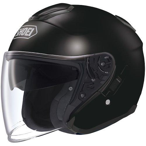 Shoei Solid J-Cruise Touring Motorcycle Helmet - Black/Large